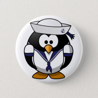 船員のペンギン 5.7CM 丸型バッジ