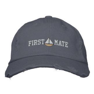 船員の一等航海士の刺繍された帽子 刺繍入りキャップ