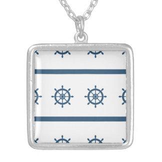船員の海洋の中型の銀によってめっきされる正方形のネックレス シルバープレートネックレス