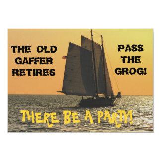 船員の退職の招待状 カード