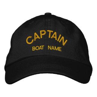 船員大尉及びボートの一流の帽子 刺繍入りキャップ