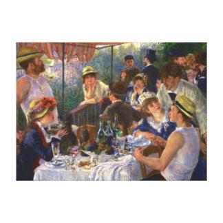 船遊びのパーティーのルノアールのファインアートの昼食会 キャンバスプリント