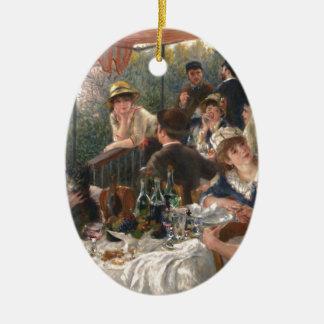 船遊びのパーティーのヴィンテージの昼食会-ルノアール セラミックオーナメント