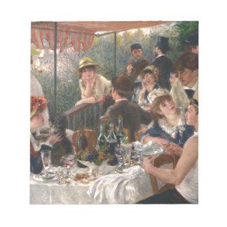 船遊びのパーティーのヴィンテージの昼食会-ルノアール ノートパッド