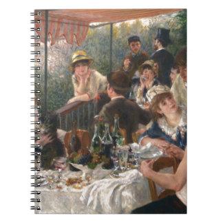船遊びのパーティーのヴィンテージの昼食会-ルノアール ノートブック