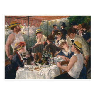 船遊びのパーティーのヴィンテージの昼食会-ルノアール ポストカード