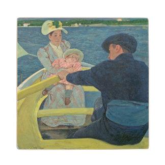 船遊びのパーティー1893-94年(キャンバスの油) ウッドコースター