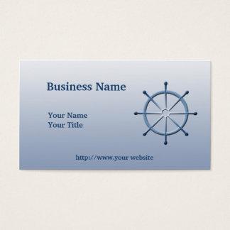船遊びの舵輪の船の車輪の青くカスタムな名刺 名刺
