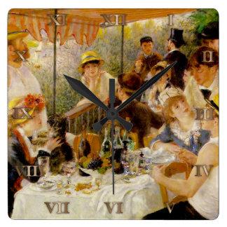 船遊び党Augusteルノアール- CLの昼食会 スクエア壁時計