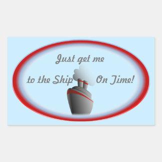 船2の青に得て下さい 長方形シール