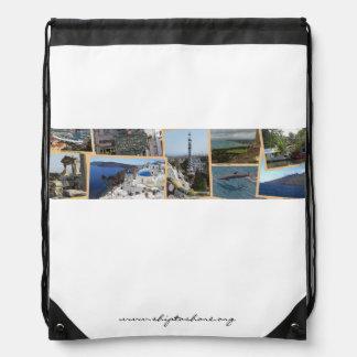 船-に-海岸のロゴのドローストリングBackback ナップサック