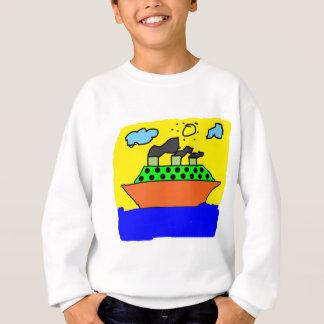 船-子供の絵を描くこと スウェットシャツ