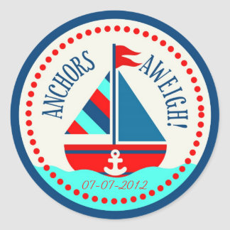 船Ahoy! ステッカーB ラウンドシール