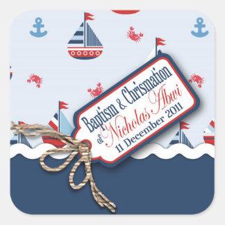 船Ahoy! 洗礼正方形のSticker_Nicolas スクエアシール