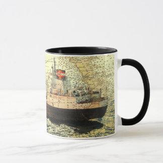 船Algontarioおよびヒューロン湖の古い図表 マグカップ
