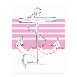 艦隊のピンクの海軍大将、贅沢なfernandes ポストカード
