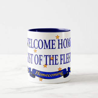 艦隊の歓迎された家の握りこぶし ツートーンマグカップ