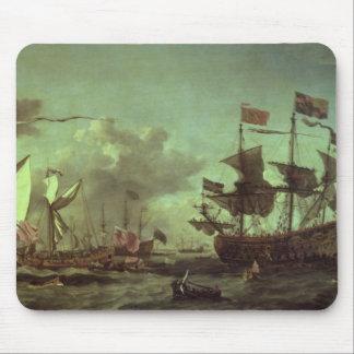 艦隊への王室の訪問、1672年6月5日 マウスパッド