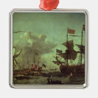艦隊への王室の訪問、1672年6月5日 メタルオーナメント