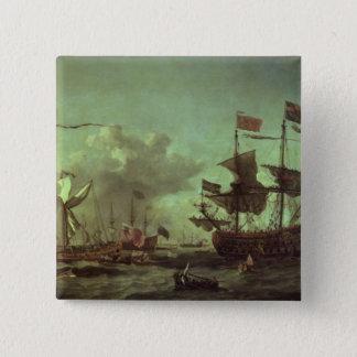 艦隊への王室の訪問、1672年6月5日 5.1CM 正方形バッジ