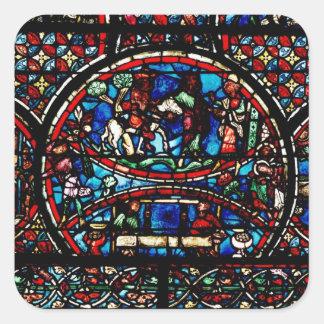 良きサマリア人を描写する窓 スクエアシール