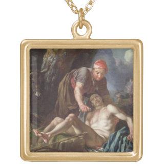 良きサマリア人、c.1751-52 (キャンバスの油) ゴールドプレートネックレス