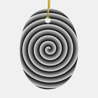 色およびサイズの調節可能な渦巻 セラミックオーナメント