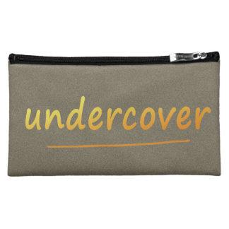 色で金おもしろいな秘密の光沢がある文字 コスメティックバッグ