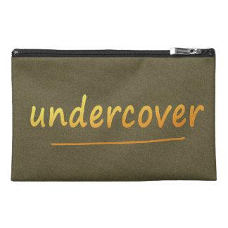 色で金おもしろいな秘密の光沢がある文字 トラベルアクセサリーバッグ