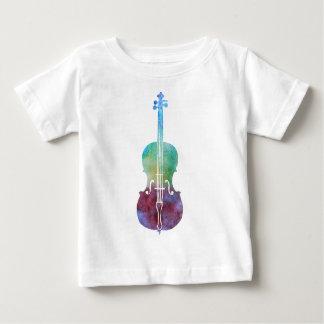 色によって洗浄されるチェロ ベビーTシャツ
