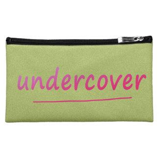 色のおもしろいな秘密の光沢があるピンクの文字 コスメティックバッグ