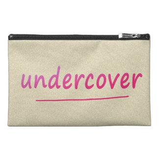 色のおもしろいな秘密の光沢があるピンクの文字 トラベルアクセサリーバッグ