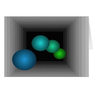 色のおもしろい3つのDの目の錯覚の無限球 カード