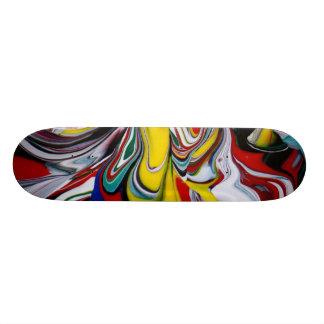 色のこぼれ カスタムスケートボード