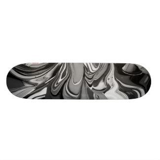 色のこぼれ(白黒で) 19.7CM スケートボードデッキ