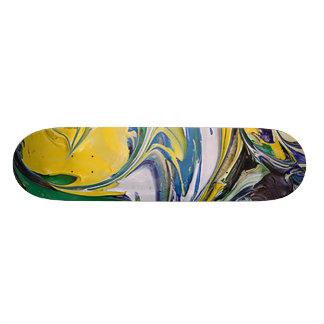 色のこぼれ#4 19.7CM スケートボードデッキ