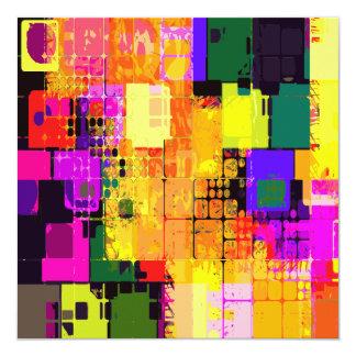 色のしぶきの抽象美術の幾何学的なパターン カード