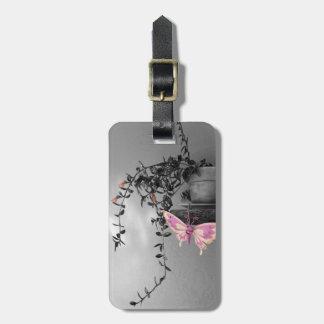 色のしぶきの蝶静物画の写真 ラゲッジタグ