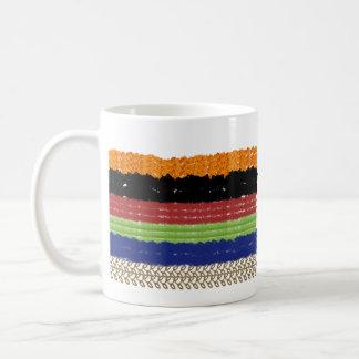 色のしぶき コーヒーマグカップ