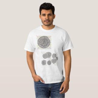 色のついた算数曼荼羅・Tシャツ Tシャツ