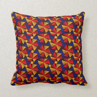 色のアフリカのプリントの装飾用クッションのオレンジを選んで下さい クッション