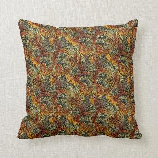 色のアフリカのプリントの装飾用クッションブラウンを選んで下さい クッション