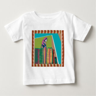 色のインドのフェスティバル- HOLIのhai ベビーTシャツ