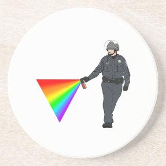 色のカジュアルな唐辛子スプレーの警察官の虹 コースター