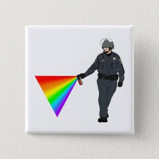 色のカジュアルな唐辛子スプレーの警察官の虹 5.1CM 正方形バッジ