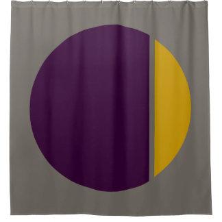 色のクラッシュの円 シャワーカーテン