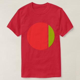 色のクラッシュの円 Tシャツ