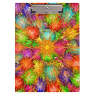色のクリップボードの抽象芸術 クリップボード