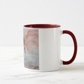 色のコップの素早く書き留めること マグカップ