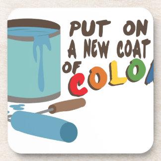 色のコート コースター
